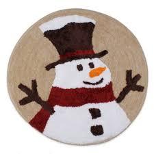 Snowman Rug Buy Christmas Bath Rugs From Bed Bath U0026 Beyond