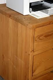 Schreibtisch Klein Holz Schreibtisch Kombination Klein Malmoe Kiefer Massiv Gebeizt Gewachst