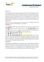 Staffing Recruiter Resume Freshjobzstreet Job Description Hr Recruiter