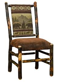 hickory dining room chairs rustic hickory upholstered dining chair bear mountain fabric