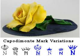 capodimonte roses capodimonte porcelain factory and makers marks made in italy