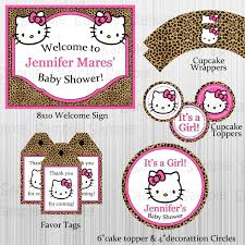 cheetah hello kitty baby shower party and 17 similar items