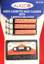 amazon com audio tape cassette head cleaner w 3 cleaning fluids