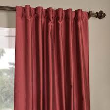 Faux Dupioni Silk Curtains Buy Cherrywood Yarn Dyed Faux Dupioni Silk Curtains