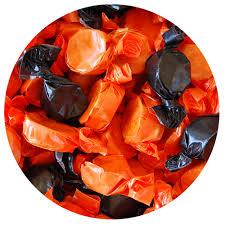 halloween orange u0026 black wrapped peanut butter kisses 3 lb bulk