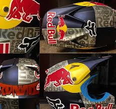 motocross helmet red bull badass motorcycle art with airtrix
