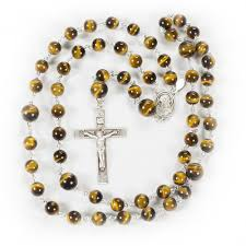 mens rosary tigers eye rosary rosaries and chaplets by sue