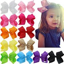 6 inch hair bows big large grosgrain ribbon boutique