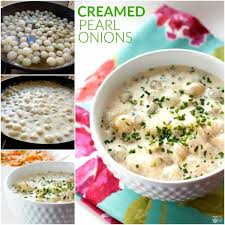 creamed pearl onions food folks and