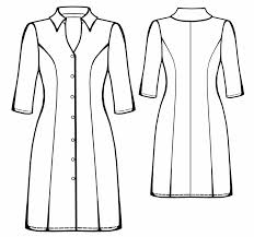 shirt dress sewing pattern 5558 made to measure sewing pattern