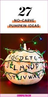 No Carve Pumpkin Decorating Ideas 27 No Carve Pumpkin Decorating Ideas Use Painted Pumpkins To