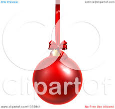 clipart of a 3d shiny bauble ornament hanging from a