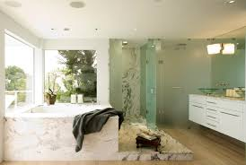 Frosted Glass For Bathroom Master Bath W Frosted Glass Shower Surround Floating Vainty