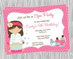 Design Invitation Card For Birthday Party Spa Birthday Party Invitations Lilbibby Com