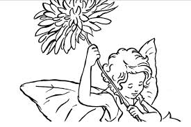 unique flower fairy coloring pages awesome des 3396 unknown