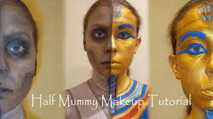 egyptian mummy makeup tutorial sarcophagus youtube