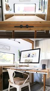 Diy Rustic Desk by Space Saving Diy Pull Out Table Mountainmodernlife Com