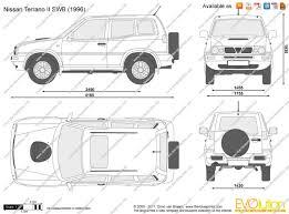nissan terrano 1997 the blueprints com vector drawing nissan terrano ii swb