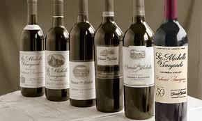 Anniversary Wine Bottles Chateau Ste Michelle Winery Woodinville Washington