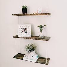 Tiered Bookshelves by Reclaimed Wood 3 Tiered Hanging Shelf Fernweh Supply Company