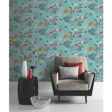 Living Room Art House Lagoon Flamingo Grey Coral Wallpaper Arthouse Vintage 252603