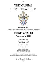the journal of the kew guild events of 2013 by kew guild journal