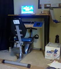 Diy Bike Desk Diy Exercise Bicycle Workstation