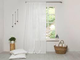Striped Linen Curtains Linen Curtain Linen Drapes White Linen Panel Sheer Linen