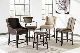 dining room modern wingback dining chair with glass windows and