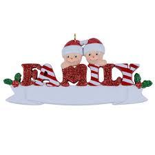 resin reindeer family sled family of 5 christmas ornaments