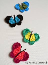 my hobby is crochet crochet butterfly applique free crochet
