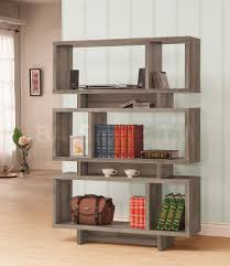 Distressed Wood Bookcase Coaster Co Hutches Bookcases Dining Living Room Bedroom