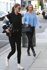 I Love Gigi Baby Clothing Taylor Swift And Gigi Hadid Do Matching Black Denim For A Mani