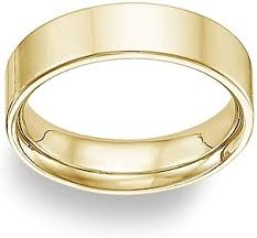 yellow gold wedding bands 14k yellow gold flat wedding band 6mm fg01f060yl