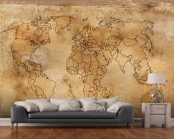map mural map wallpaper wall murals wallsauce usa