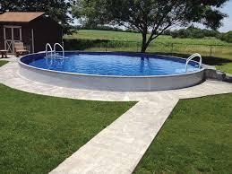 Inground Pool Landscaping Ideas Best 25 Semi Inground Pool Deck Ideas On Pinterest Semi