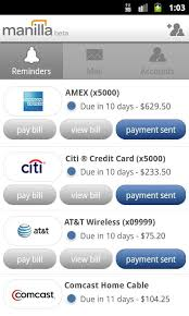 Be Like Bill Android Apps - manilla releases android app makes bill paying easier than it should be