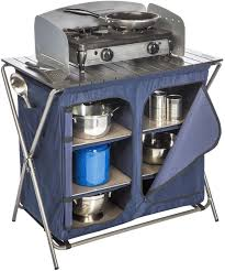 camp kitchen table stove folding storage camping kitchen portable