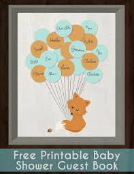 fox guestbook free printable animal birthday woodland animals