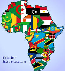 the map of africa flag map of africa language
