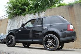 black land rover with black rims range rover sport gwg wheels