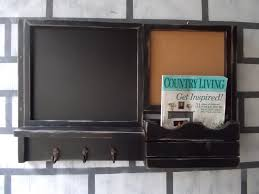 framed chalk board message center corkboard center magazine