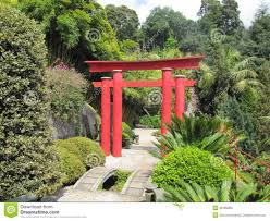 japanese torii gate stone pathway zen garden 38185860 jpg 1300