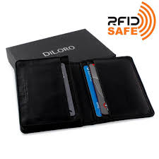 Black Business Card Holder Wallet By Diloro Italy Mens Leather Business Card Wallet Holder