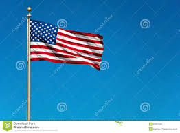China Flag Waving Us American Flag Waving In Wind With Blue Sky Stock Image Image