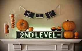 Simple Fireplace Designs by Simple Fireplace Mantel Halloween Decoration Ideas With Rip Books