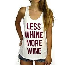 women u0027s less whine more wine tank top at amazon women u0027s clothing