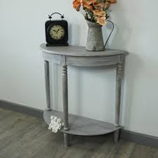 Half Moon Accent Table Shelves Display U0026 Storage Melodymaison