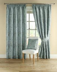 duck egg blue brown striped curtains glif org
