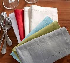 pottery barn table linens pb classic napkin set of 4 flax pottery barn